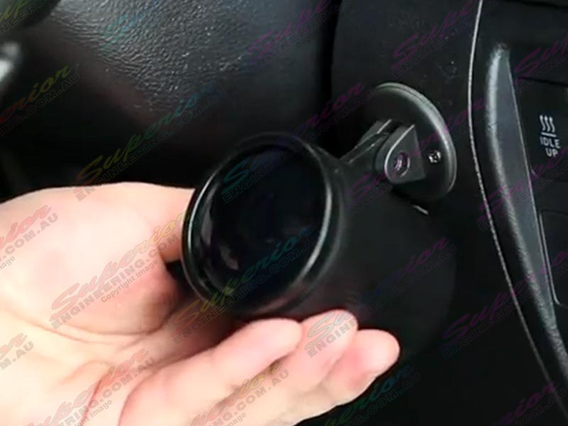 Air Pressure Digital Guage Fully Mounted to Dashboard of Vehicle