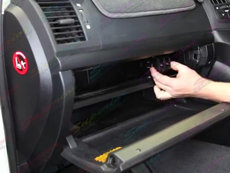 Dual Control Switches Being Fitted To Glove Box