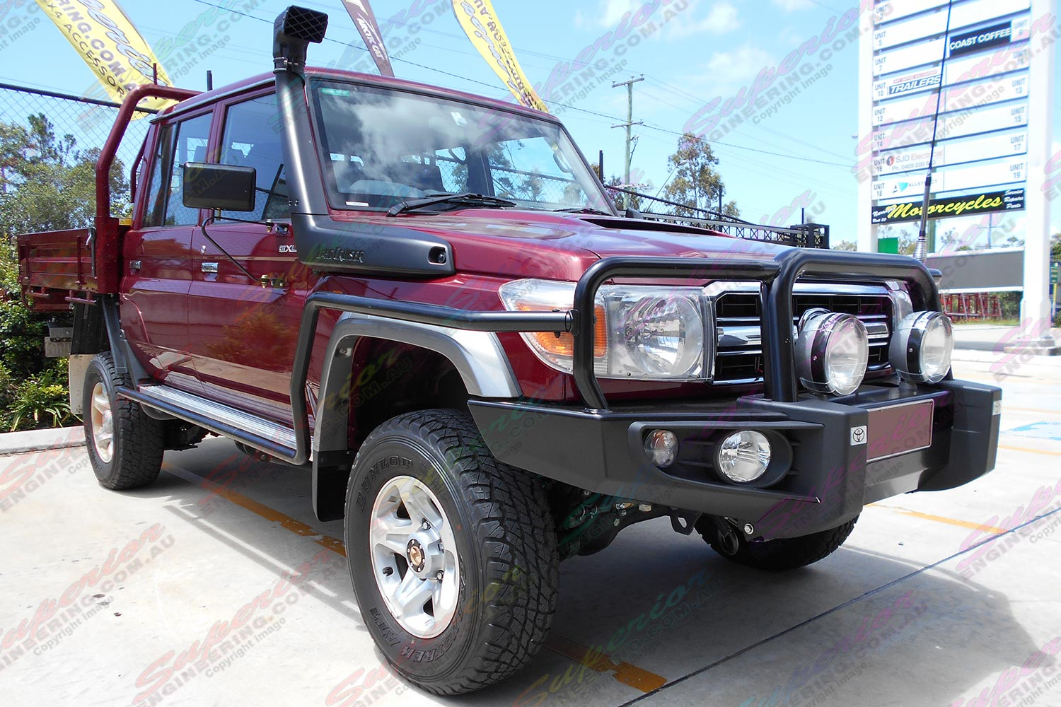 Toyota Landcruiser 78/79 Series with Airbag to Suit 2 Inch Lift