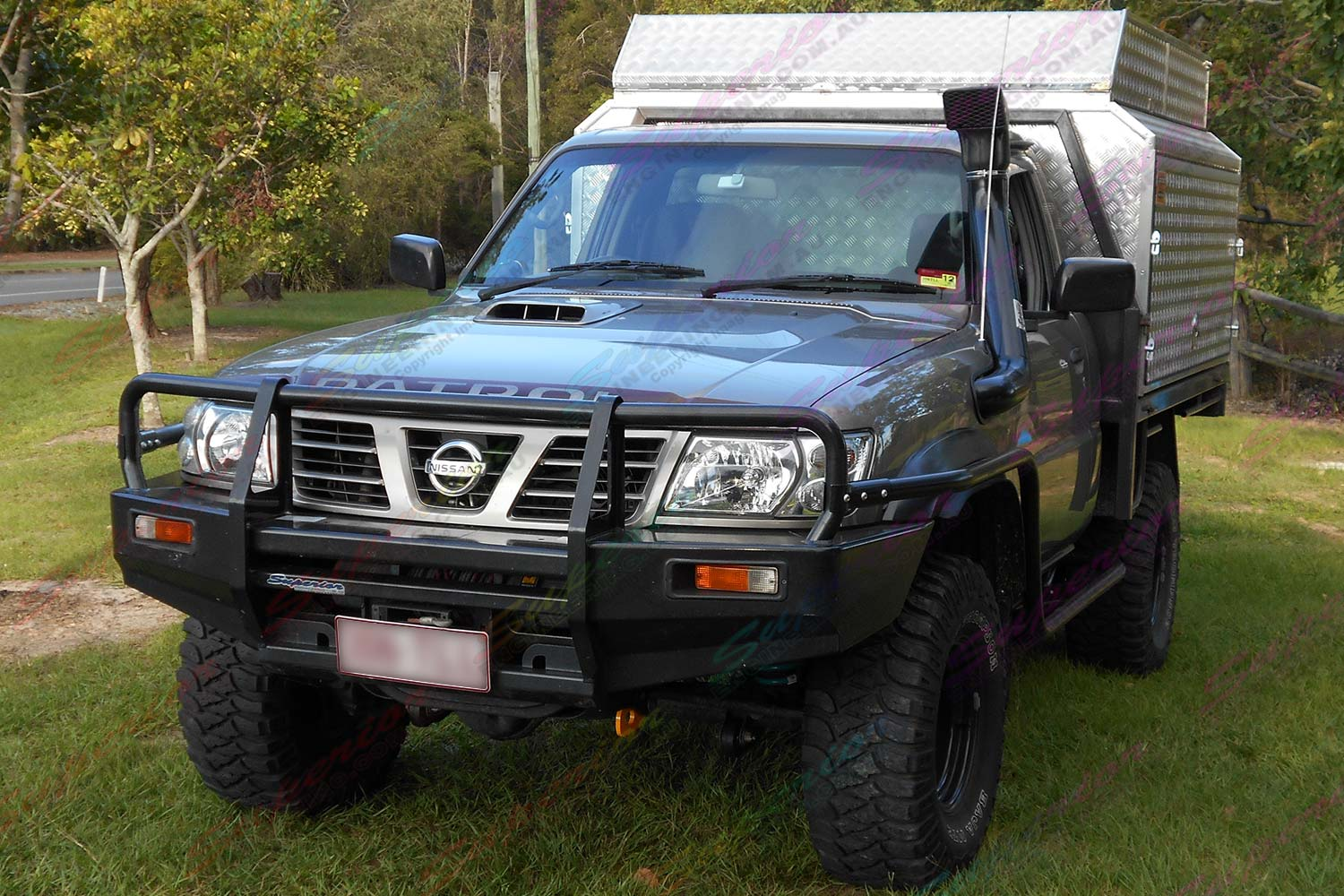 nissan patrol gu ute 3 inch profender airbag lift kit 4x4 airbags. Black Bedroom Furniture Sets. Home Design Ideas