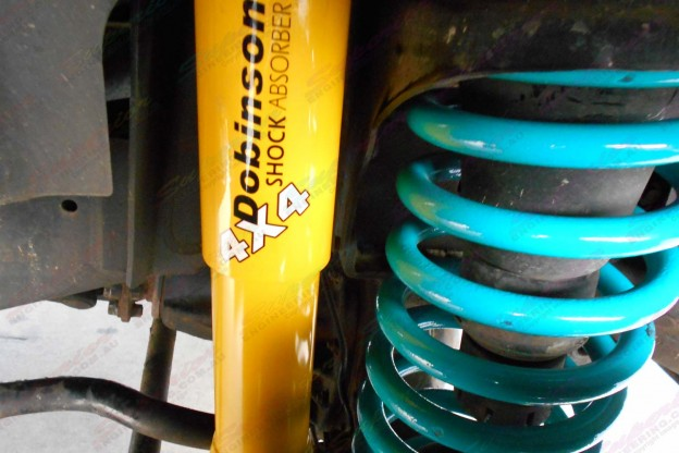 Dobinsons coil springs and shocks fitted to a 105 Series Landcruiser
